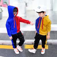 儿童秋冬装男童金丝绒卫衣两件套装小孩运动衣服