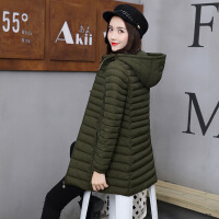 棉衣女中长款2018冬新款时尚羽绒大码韩版修身显瘦棉袄外套