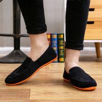 老北京布鞋男鞋特大号单鞋软底平跟懒人鞋一脚蹬休闲鞋帆布鞋