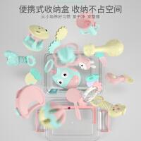 婴儿手摇铃玩具牙胶益智0-3-6-12个月宝宝1岁幼儿新生男女孩