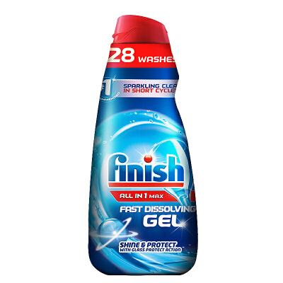 Finish光亮碗碟洗碗机专用洗涤液1L 美的方太洗碗液海尔西门子碗碟洗涤剂 柠檬去油 快速溶解 灵活用量