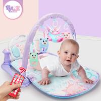 育儿宝 健身架 婴儿脚踏钢琴男孩女孩0-12个月新生宝宝带音乐游戏毯加厚爬行垫挂件儿童玩具用品