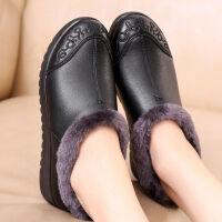 春款中老年单鞋妈妈鞋软底皮鞋女舒适老人奶奶单鞋轻