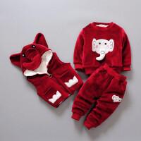 童装冬装男童宝宝套装小童儿童卫衣女童婴幼儿3件套