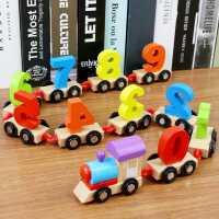 木质早教数字小火车1-2-3岁男女孩宝宝益智拼装积木儿童智力玩具