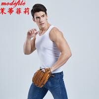茉蒂菲莉 男士背心 纯棉修身型男式背心运动打底汗衫满额减韩版紧身青年健身马甲男装