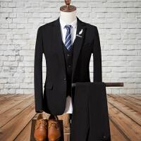 秋冬西服套装男士新郎结婚礼服修身韩版发型师西装三件套青年正装