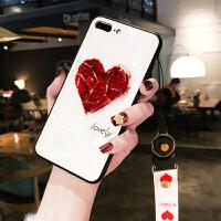 爱心水感苹果X手机壳女xr挂绳iPhone8plus个性创意苹果6s立体7plus新款苹果Xs Ma i6/6s 4.