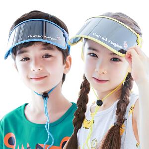 kk树儿童帽子男潮宝宝防晒遮阳帽太阳帽女童帽子夏空顶帽防紫外线