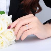 罗曼蒂珠宝白18K金钻戒女款59分求婚结婚钻石戒指可裸钻需定制