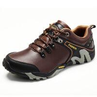 男鞋夏季登山鞋户外鞋防滑防水鞋真皮男运动休闲皮鞋软底徒步鞋潮
