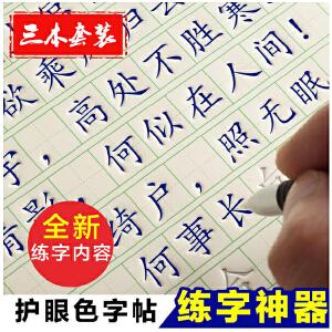 新款【19天练好字】楷书 成人初高中学生练字板套装凹槽特效写字板钢笔练字帖好字