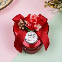 结婚庆用品盒子 马口铁喜糖盒子 个性糖果包装盒创意心形婚礼铁盒