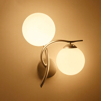 御目 壁灯 时尚led灯床头灯现代简约创意卧室灯客厅灯阳台灯过道灯楼梯墙壁灯双头灯 创意灯具