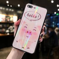 iPhone XSMAX手机壳苹果8plus情侣款X个性创意XR网红女款7plus可爱卡通小猪6s炫