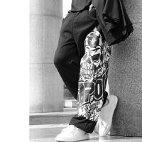 春夏薄款 鬼步舞裤子街舞裤子装备运动宽松跑酷嘻哈滑板卫裤