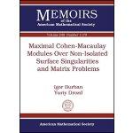 【预订】Maximal Cohen-Macaulay Modules Over Non-Isolated Surfac