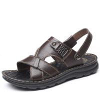 两用凉拖鞋男士夏季中年爸爸外穿潮流凉鞋休闲沙滩鞋厚底增高