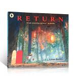 进口英文原版 Journey探索不可思议的旅程 三部曲之3回归之夜 儿童启蒙晚安无字书 艾伦贝克尔 正版图画亲子绘本
