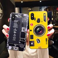 小米8se手机壳女款小米8软壳个性创意探索版硅胶米8潮牌情侣磨砂超薄小米8青春版全包防摔 小米8se 黄色相机(配支架