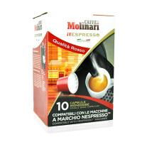 Molinari/摩纳 胶囊咖啡 意大利原装进口 适用雀巢机 【红标】10粒