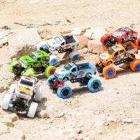 铭源 仿真弹簧避震攀爬大轮合金越野车 儿童涂鸦回力皮车玩具汽车
