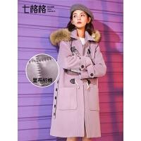 牛角扣毛呢大衣秋冬季女流行2018新款毛领韩版学生中长款呢子外套