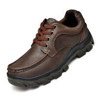 男鞋新款真皮透气休闲皮鞋户外防滑登山鞋男潮鞋男士户外运动休闲鞋登山徒步皮鞋爸爸鞋