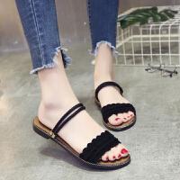 平底凉鞋女学生韩版夏季女鞋学生凉拖鞋女士休闲外穿拖鞋罗马女鞋
