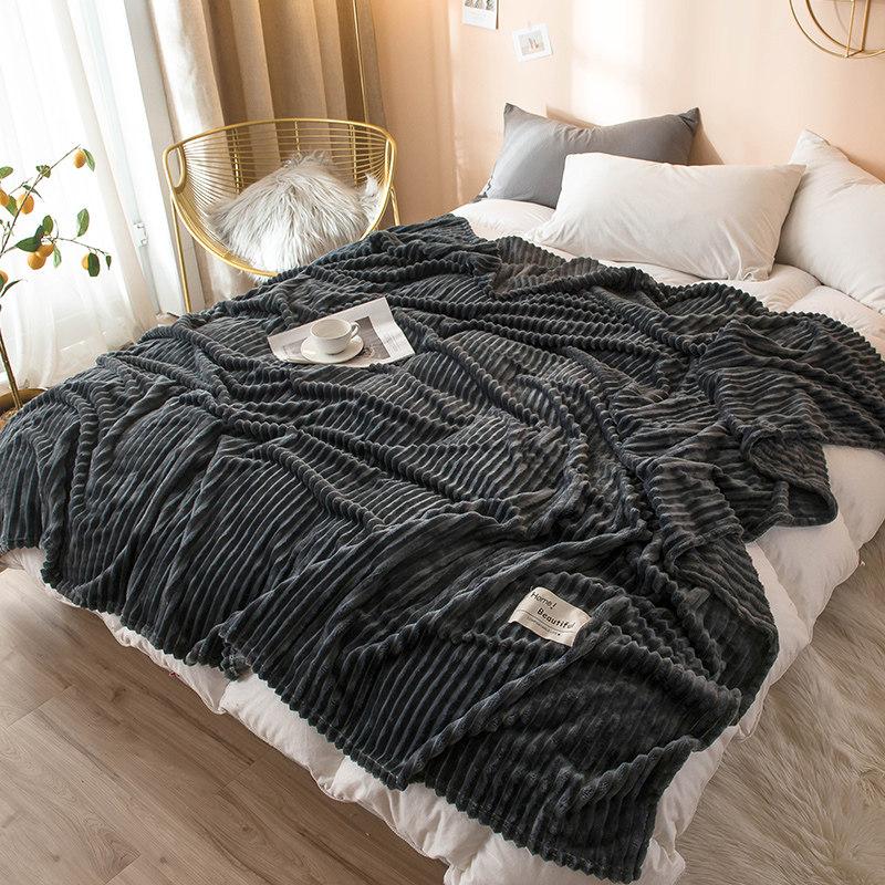 小毛毯被子办公室午睡学生床单人毛巾被珊瑚绒毯子冬季加厚