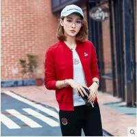 户外运动套装 女大码休闲套装 女装韩版修身显瘦卫衣三件套