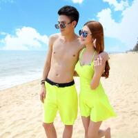 新款海边度假情侣装泳衣蜜月套装男女沙滩装连体游泳衣裤