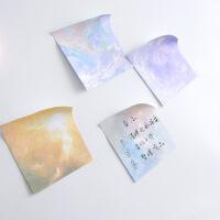 日韩文具 科幻星球系列便利贴圆形可撕便签小本子办公记事N次贴