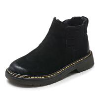 童鞋女童靴子短靴秋冬2017新款儿童单靴男童马丁靴潮