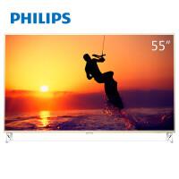 飞利浦(PHILIPS)55PUF8202/T3 55英寸 金属前框量子点超薄HDR人工智能4K超高清WIFI电视机