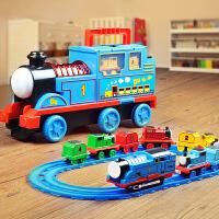 托马斯小火车轨道套装玩具大号合金电动轨道套装益智