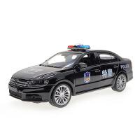 嘉业大众朗逸警车合金汽车模型带声光回力功能儿童4开门车模