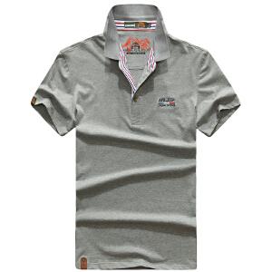 17526夏装新款战地吉普AFSJEEP翻领半袖T恤衫 纯棉弹力男短袖polo