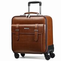 真皮拉杆箱万向轮20寸商务登机箱16寸行李箱男牛皮小旅行箱18寸女
