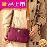 新款斜跨女包防水尼龙牛津布迷你小包单肩斜跨女士包包帆布包 大号紫色 【Logo升级】