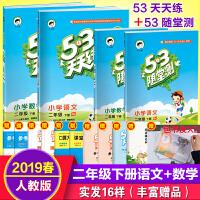 53天天练+53随堂测二年级下册语文数学人教版同步练习册