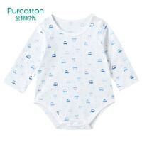 全棉时代 蓝星小汽车婴儿针织长袖爬爬服80/481件装