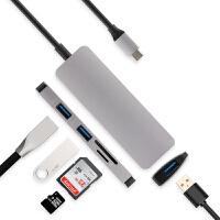 TYPE-C转USB扩展坞OTG转换器 联想ideapad D330-10IGM笔记本转换器二合一平 银灰色【TYPE