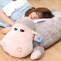 小羊毛绒玩具羊驼公仔 可爱卡通洋娃娃布偶 创意睡觉抱枕女孩 大号 1米