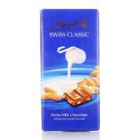 瑞士进口 瑞士莲 瑞士经典排装 扁桃仁牛奶巧克力100g