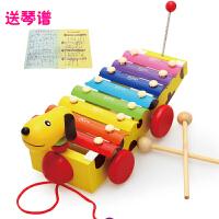 宝宝启蒙八音手敲琴 婴儿早教益智玩具 木质音乐乐器1-2周岁儿童玩具