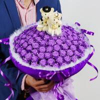 手工玫瑰花材料包diy蓝色妖姬材料包折纸花束泡沫海绵包装纸制作