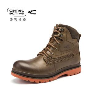 Camel Active/骆驼动感冬款马丁靴复古中筒男鞋流行系带高帮鞋男