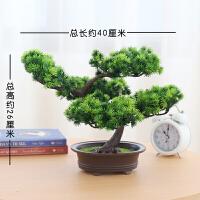 塑料树盆景仿真植物盆栽室内装饰假花松树家居客厅绿植塑料小摆件迎客松盆景