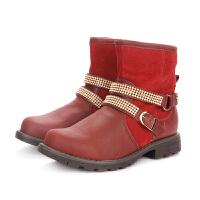 【119元任选2双】百丽Belle童鞋中小童鞋子特卖童鞋雪地靴 (5-12岁可选)91862D DE0162 DE01